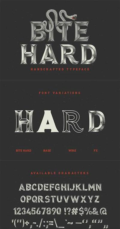 Bite Hard font 761204