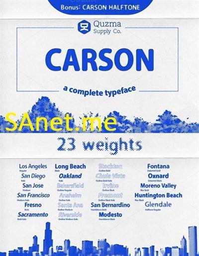 Carson Bundle Font