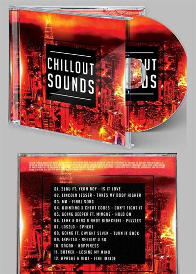 Chillout Sound CD Cover PSD Template