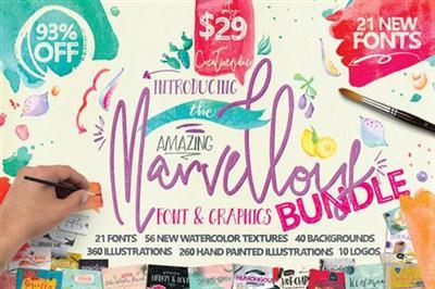 CreativeMarket - Marvellous Font Bundle