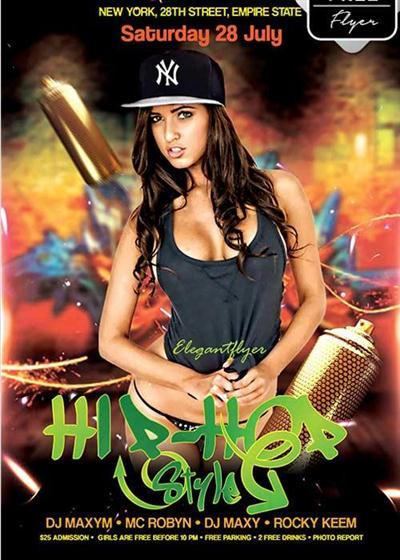 Hip-Hop Style V9 Flyer PSD Template + Facebook Cover