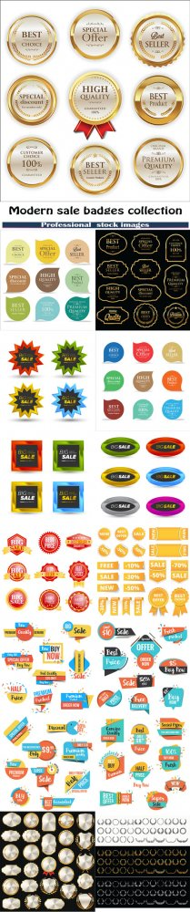 Modern sale badges collection