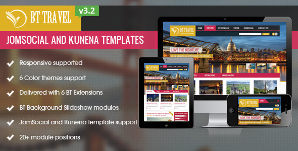 BT Travel v3.2 - Jomsocial and Kunena Template
