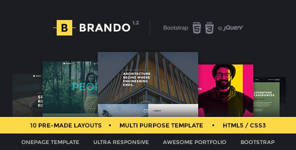 Brando Responsive & Multipurpose OnePage Template