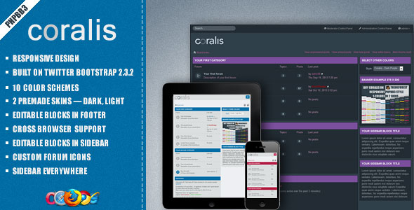Coralis - Themeforest Responsive Theme for phpBB3