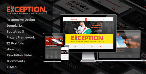 EXCEPTION - Responsive Business Joomla Template