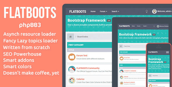 FLATBOOTS - Themeforest phpBB3 Theme