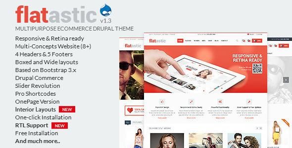 Flatastic - Multipurpose eCommerce Drupal Theme