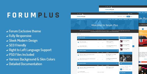 Forum Plus - Responsive Drupal Forum Theme + RTL