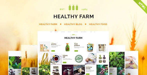 Healthy Farm - Food & Agriculture Site Template