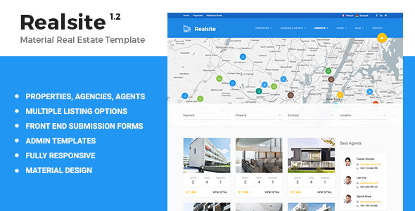 Realsite - Material Real Estate Template