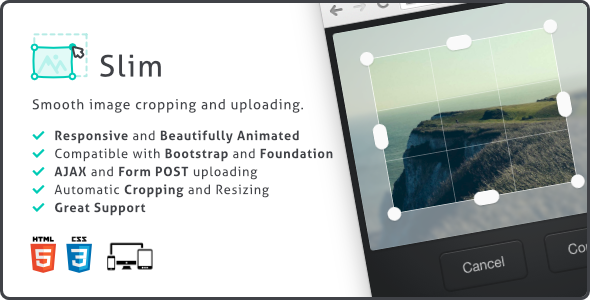Slim, Image Upload and Ratio Cropping Plugin