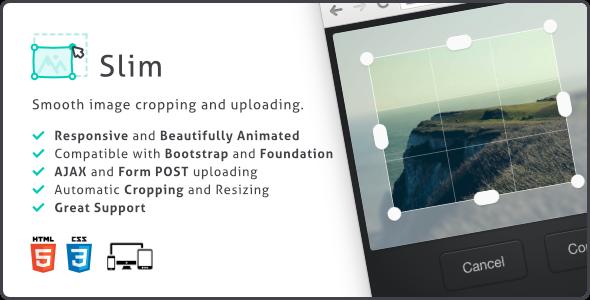Slim, Image Upload and Ratio Cropping Plugin
