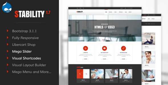 Stability - Responsive Drupal 7 Ubercart Theme