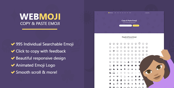 WebMoji - Searchable, Copy & Paste Emoji Directory