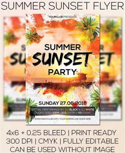 Summer Sunset Flyer 16834381