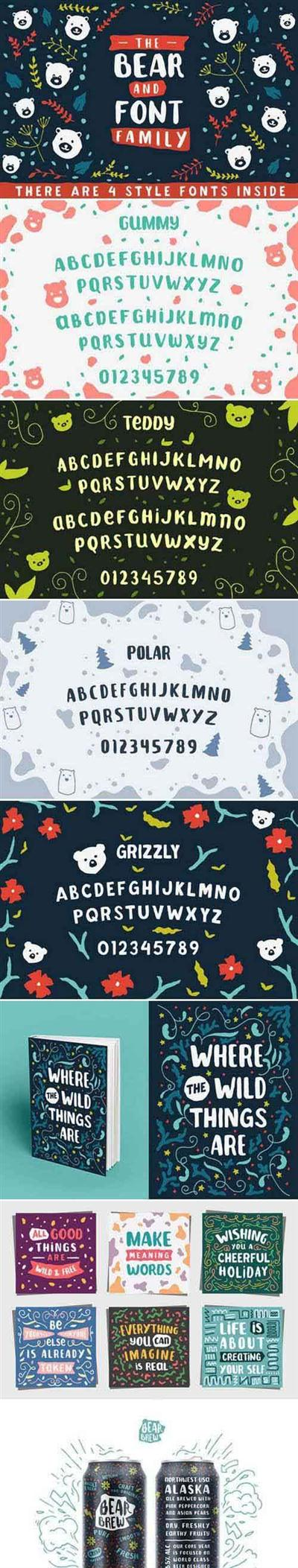 The Bear Font Family 758828
