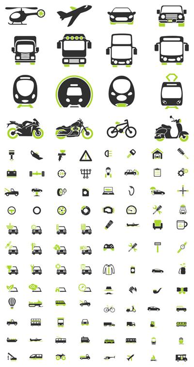 Vector Transportation Simply Icons