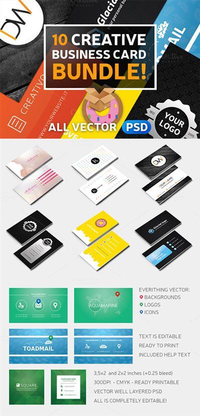 10 Creative Business Card Bundle! - Creativemarket 165033