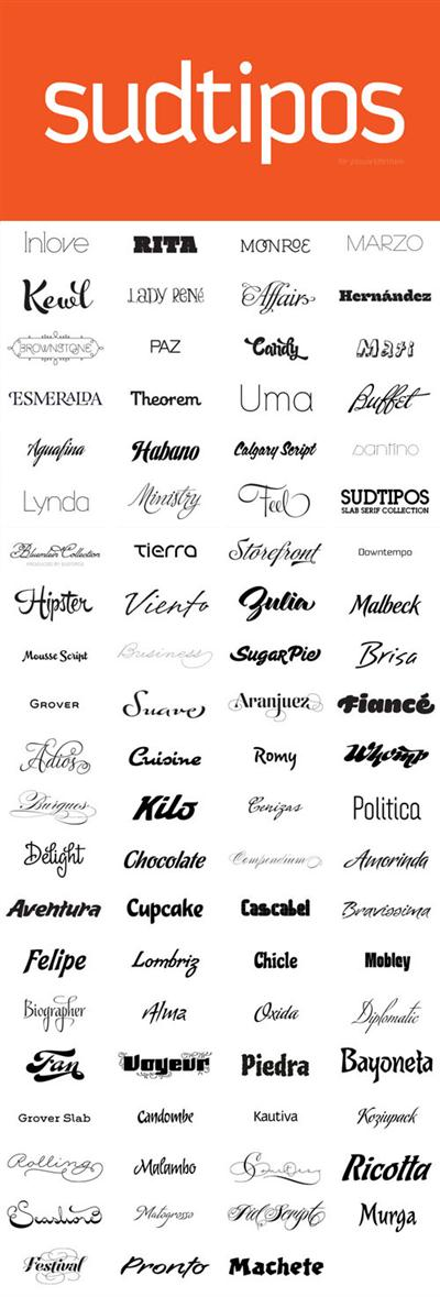 127 Professional Designers Fonts from Sudtipos, YouWorkForThem