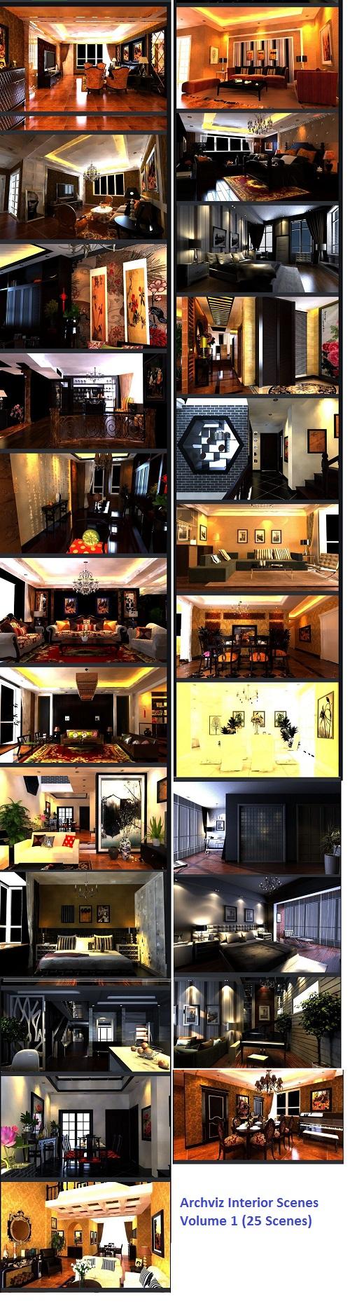 Archviz Interior Scenes Volume 1 (25 Scenes)