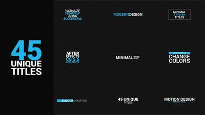 45 titles package - Project for After Effects (Videohive)