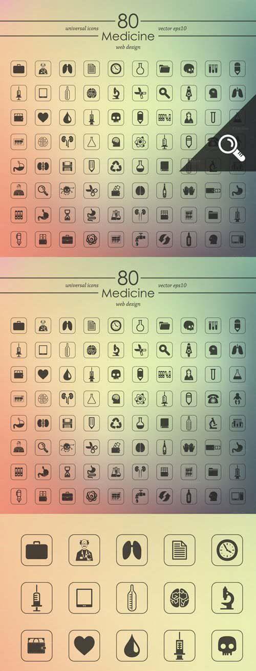 80 MEDICINE Icons
