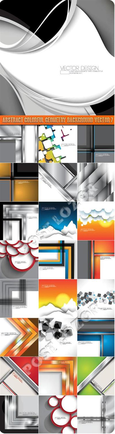 Abstract colorful geometry background vector 7