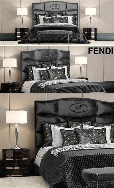 Bed fendi george bed