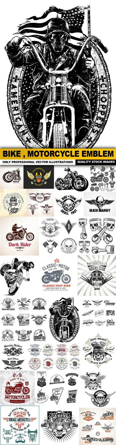 Bike , Motorcycle Emblem Collection - 26 Vector