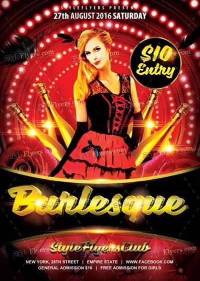 Burlesque V1 PSD Flyer Template