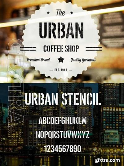 CM - Urban Stencil Display Font 735906