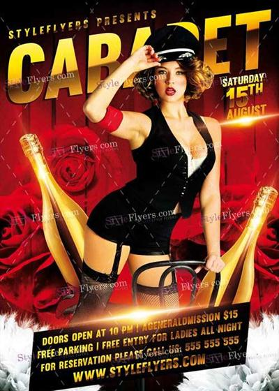 Cabaret V1 PSD Flyer Template