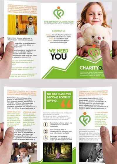 Charity Premium Tri-Fold PSD Brochure Template