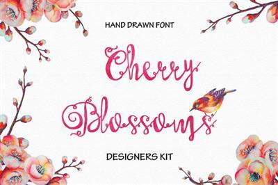 CreativeMarket - Cherry Blossoms Hand Made Font