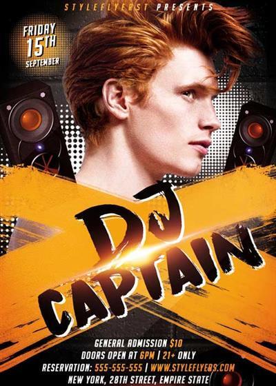 Dj Captain V1 PSD Flyer Template