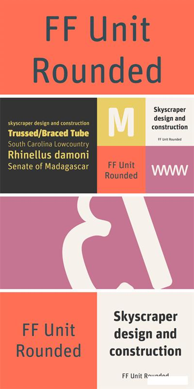 FF Unit Rounded Font Family