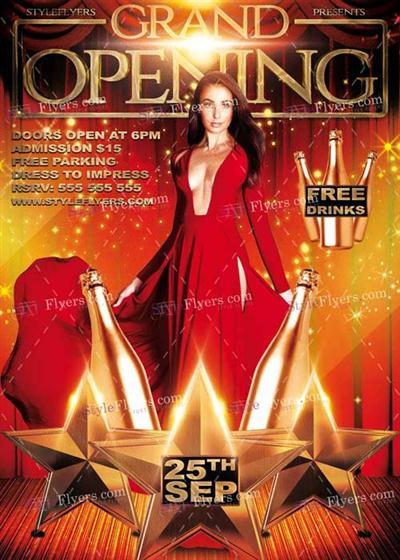 Grand Opening PSD V2 Flyer Template