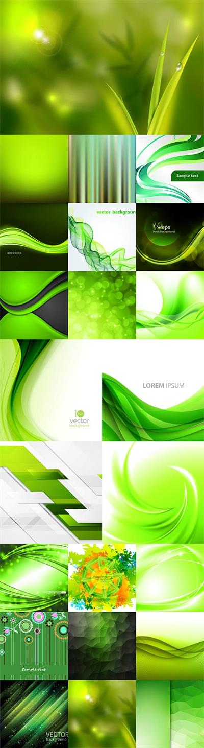 Green abstract vector backgrounds