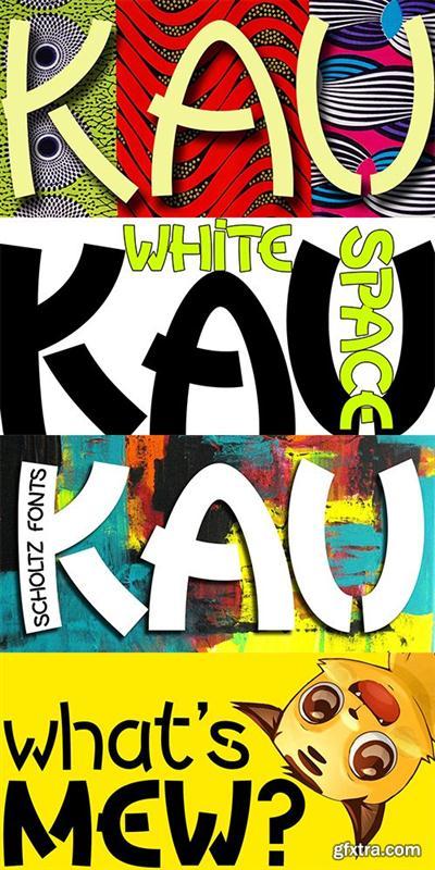 KAU Font Family - 2 FONTS $99