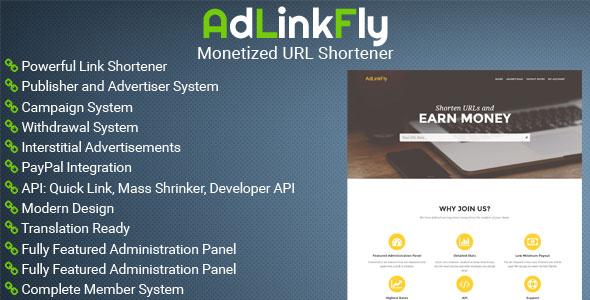 AdLinkFly v2.5.1 - Monetized URL Shortener