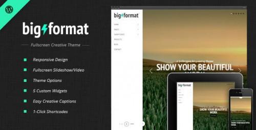 Nulled BigFormat v1.4.3 - Responsive Fullscreen WordPress Theme