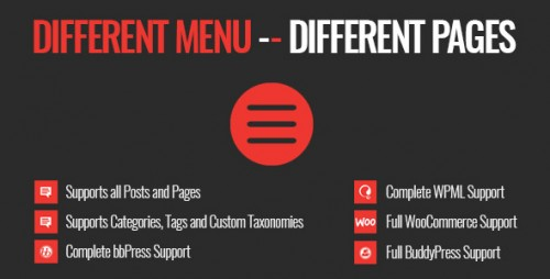 Nulled Different Menu in Different Pages v1.0.3 - WordPress Plugin pic