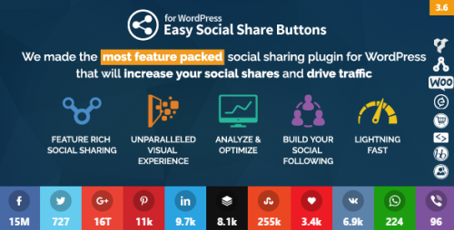 Nulled Easy Social Share Buttons for WordPress v3.6