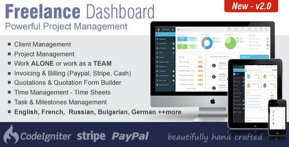 Freelance Dashboard v2.0 - Project Management CRM Software