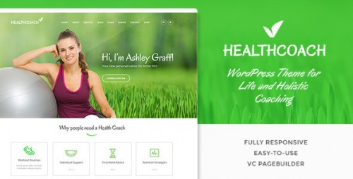 Nulled Health Coach - WP Theme for Life Coach Website