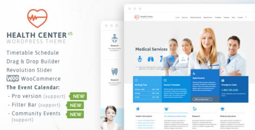 Nulled Health Medical Center v15 - Responsive Theme Product visual