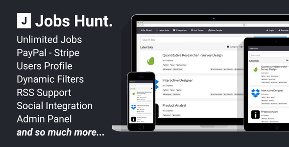 Jobs Hunt v1.3 - The Job Portal