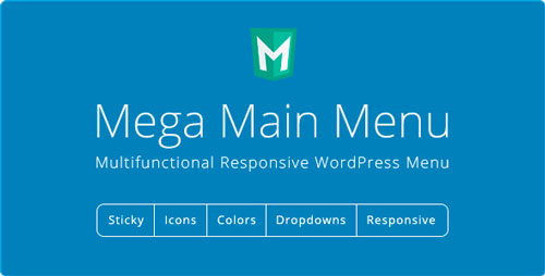 Nulled Mega Main Menu v2.1.2 - WordPress Menu Plugin image