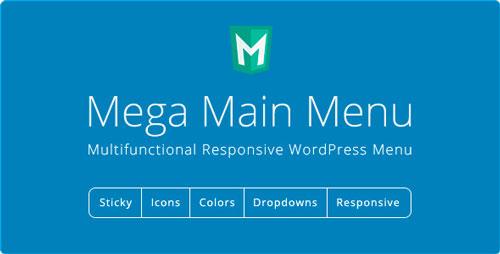 Nulled Mega Main Menu v2.1.2 - WordPress Menu Plugin image
